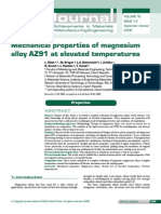 Mechanical Properties of Magnesium Alloys AZ91