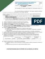 Guía de Refuerzo 3º Período - C. Naturales