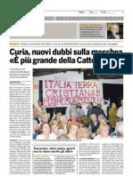 il Bologna 11-09-07 Curia nuovi dubbi sulla moschea