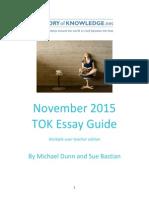 TOK Essay Guide November 2015