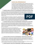 Definición de Proceso de Aprendizaje
