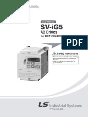 LS Inverter SV008IG5-4 New In Box ! ONE-Year Warranty