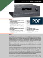 Data Sheet - T 754 a-V Surround Sound Receiver