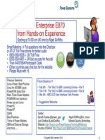42 POWER8 Enterprise E870 From Experience