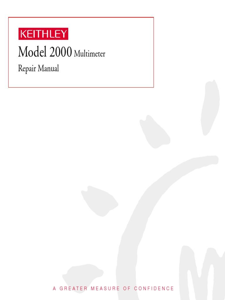 keithley model 2000 multimeter repair manual fuse electrical rh es scribd com Keithley 2000 Multimeter User Manual Keithley 2000 Multimeter