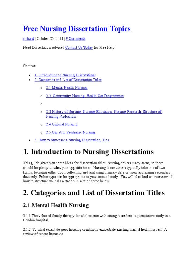 community health nursing topics