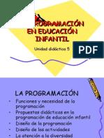LA PROGRAMACIÓN EN EDUCACIÓN INFANTIL