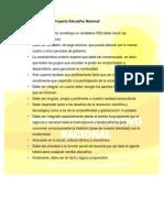 Características Del Proyecto Educativo Nacional