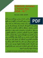 Hizib Imam Asy Syadziliy