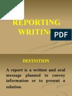 Report Writing sample
