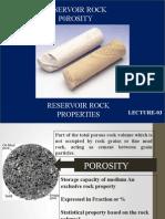 Reservoir Rock Porosity