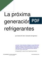 La Proxima Generacion de Refrigerantes (2009)