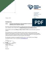 Equipment Inspection RFP EI101714