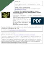 Distribution of intracellular nitrogen in marine microalgae