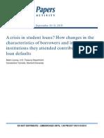 Crisis Student Loans
