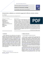Interpretation Validation on Vertically Exaggerated Reflection Seismic Sections