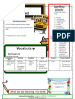Back to School Newsletter Week 5
