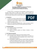 Edital PIC 2015 Divulgação