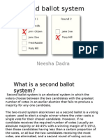 Second Ballot System