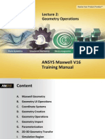 Maxwell v16 L02 Geometry Operations