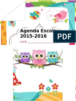 Agenda Escolar 2015 1016 Editable