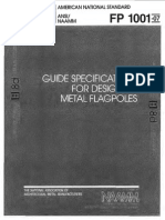 ANSI NAAMM Guide Specification for Design of Metal Flagpoles FP1001-07