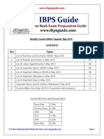 Monthly Current Affairs Capsule- May 2015-Www.ibpsguide.com
