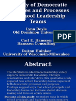 A Study of Democratic Purposes and Processes In