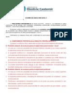 Metodologie Examen de Absolvire Nivel II