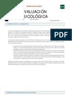 Guía Evaluación psicológica 2015/ 2016