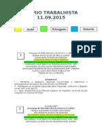 Diário Trabalhista 11.09.2015