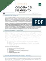 Guía Psicología Del Pensamiento 2015/2016