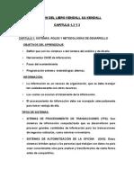Resumen Del Libro Kendall Kendall Capitulo 1 2 y 3 y Las Preguntas
