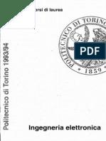 Politecnico Torino Ingegneria Elettronica Guida dello Studente 1993 1994