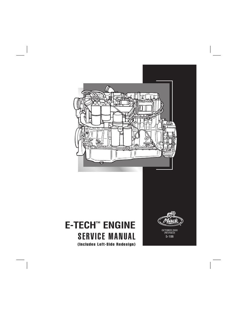 e tech pdf cylinder engine screw rh es scribd com Mack E7 460 Engine Specs mack e7 427 service manual