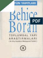 Behice Boran-Toplumsal Yapı Araştırmaları