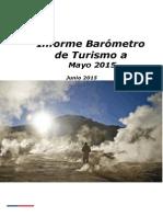 informe de Barometro de Turismo a mayo 2015