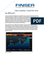 Financial Markets volatility