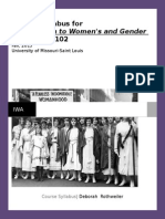 women studies syllabus 2015