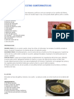 RECETAS DE COMIDAS GUATEMALTECAS