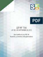 Ley 730 2 de septiembre de 2015