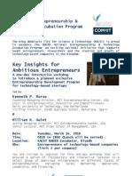 Workshop for Ambitious KSA Entrepreneurs