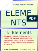 elements compounds mixtures show