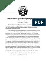Mid Atlantic Regional Bargaining Report # 34