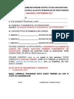 Formular de Inscriere La Concurs Pt Locurile Libere 2015