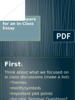 how to prepare for an in-class essay