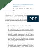 Alfabetização de Alunos Usuários Do Sistema Braille