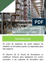 Teoria de Inventarios. Ing Leon Garcia