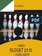 India Budget 2010 - Highlights