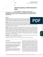 Splicing Rheumatoid Arthritis